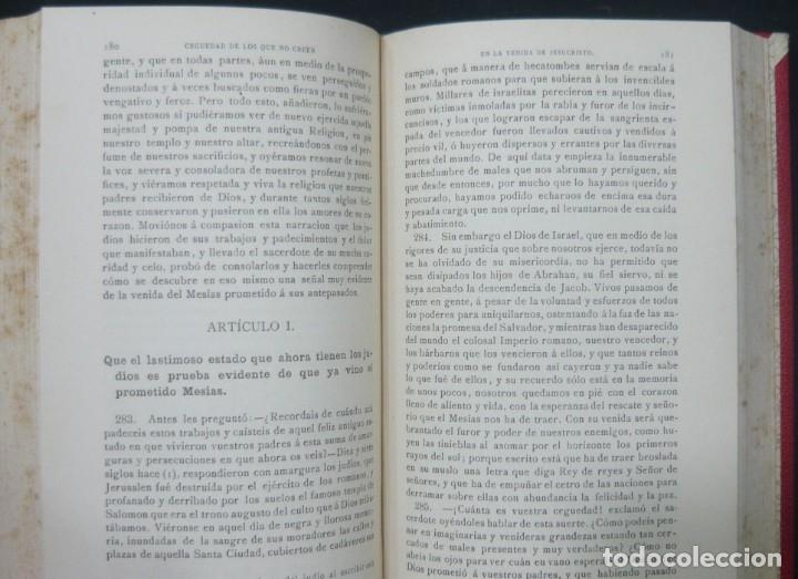 Libros antiguos: 1900 - Consideraciones Teológicas y Espirituales sobre las Grandezas de Jesucristo - 2 Tomos - Piel - Foto 8 - 159602866