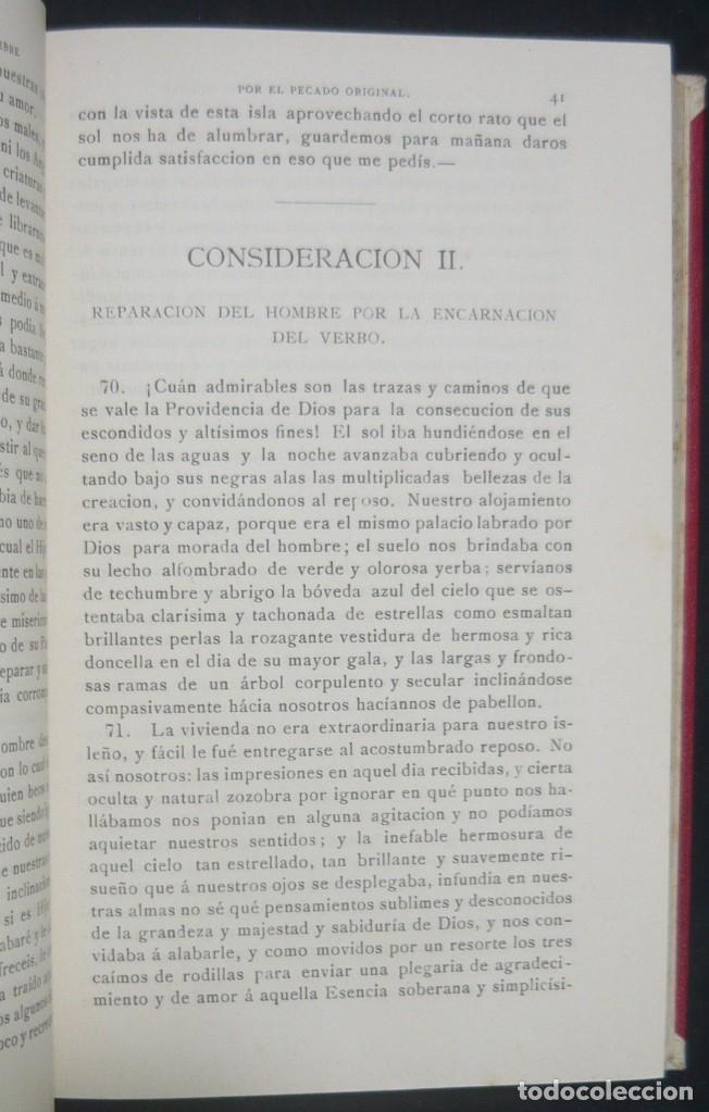 Libros antiguos: 1900 - Consideraciones Teológicas y Espirituales sobre las Grandezas de Jesucristo - 2 Tomos - Piel - Foto 7 - 159602866