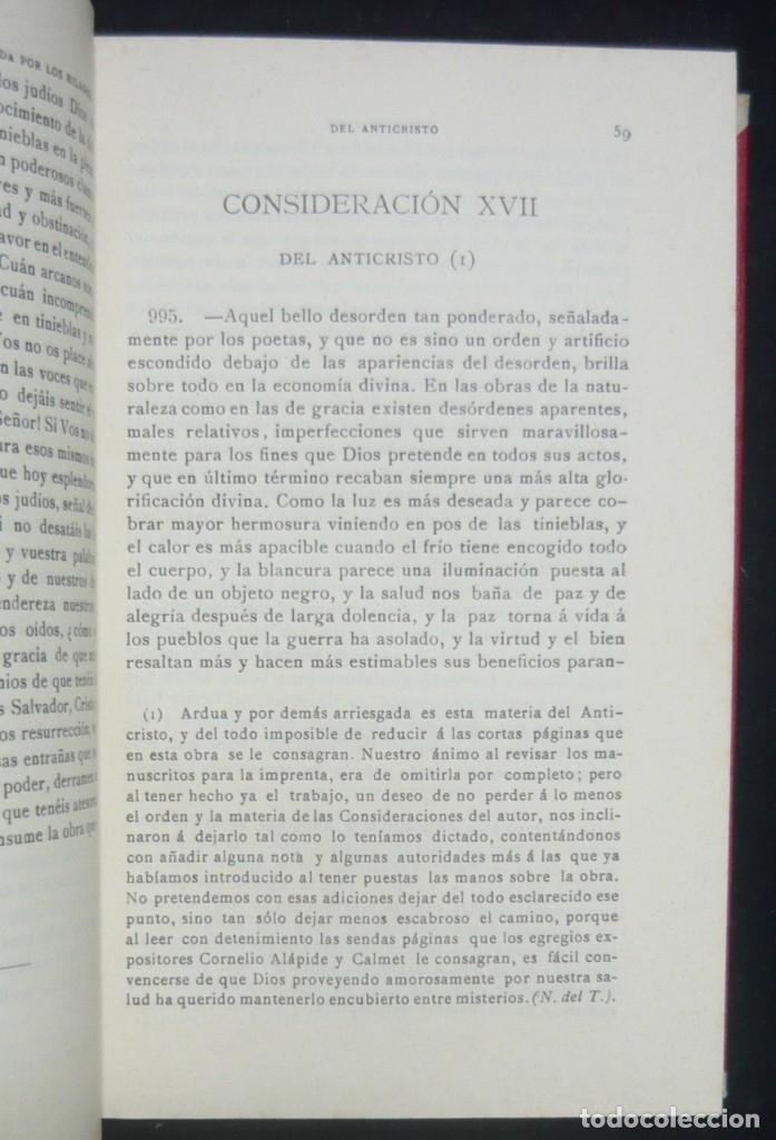 Libros antiguos: 1900 - Consideraciones Teológicas y Espirituales sobre las Grandezas de Jesucristo - 2 Tomos - Piel - Foto 11 - 159602866