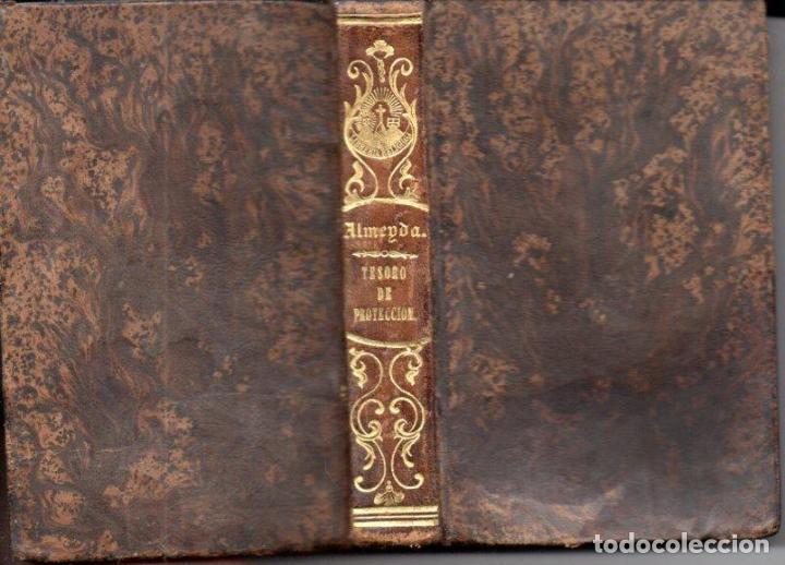 TEODORO DE ALMEYDA : TESORO DE PROTECCIÓN DE LA SANTÍSIMA VIRGEN (H. V. PLA, 1850) (Libros Antiguos, Raros y Curiosos - Religión)