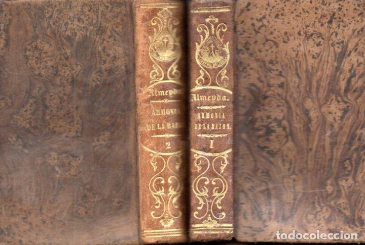 TEODORO DE ALMEIDA : ARMONÍA DE LA RAZÓN Y DE LA RELIGIÓN (H. DE LA V. PLA, 1850) DOS TOMOS (Libros Antiguos, Raros y Curiosos - Religión)