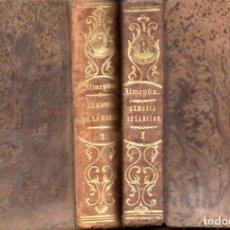 Libros antiguos: TEODORO DE ALMEIDA : ARMONÍA DE LA RAZÓN Y DE LA RELIGIÓN (H. DE LA V. PLA, 1850) DOS TOMOS. Lote 159687626