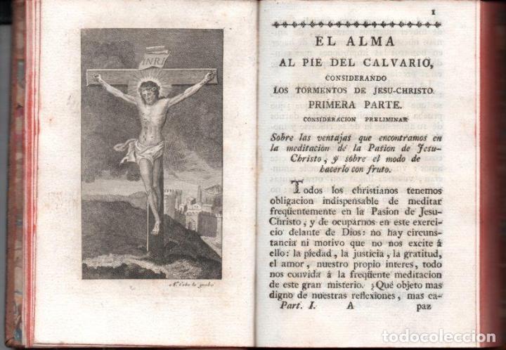 Libros antiguos: VELA Y OLMO : EL ALMA AL PIE DEL CALVARIO (BENITO CANO, 1796) - Foto 3 - 159694386