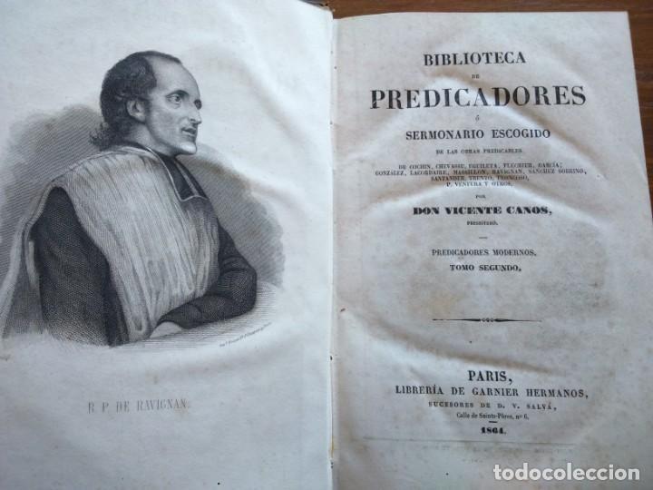 Libros antiguos: BIBLIOTECA DE PREDICADORES O SERMONARIO ESCOGIDO POR VICENTE CANOS - PARIS 1846 -- 12 TOMOS -- - Foto 7 - 159748646