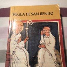 Libros antiguos: REGLA DE SAN BENITO. Lote 159912353