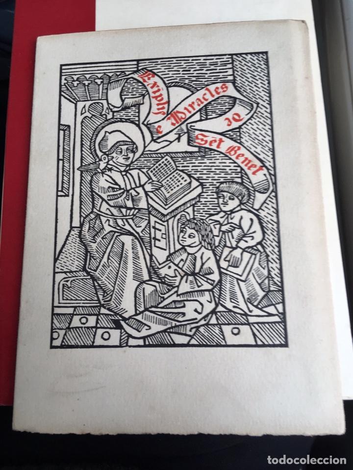 EXIMPLIS E MIRACLES SENT BENET - IMPRESOR OLIVA - 1910 (Libros Antiguos, Raros y Curiosos - Religión)