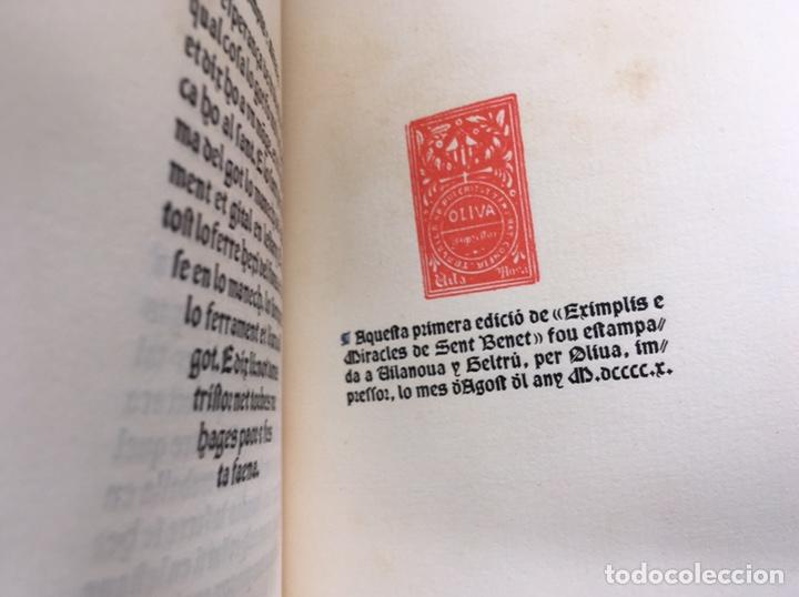 Libros antiguos: Eximplis e miracles Sent Benet - Impresor Oliva - 1910 - Foto 3 - 160214813