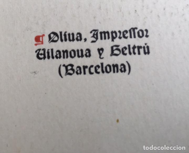 Libros antiguos: Eximplis e miracles Sent Benet - Impresor Oliva - 1910 - Foto 4 - 160214813