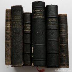 Libros antiguos: LOTE DE 6 LIBROS RELIGIOSOS ANTIGUOS. Lote 160616882