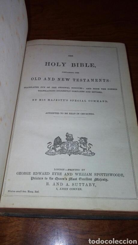 Libros antiguos: HOLY BIBLE *ANTIGUA BIBLIA* BONITA ENCUADERNACION *ANTIGUO Y NUEVO TESTAMENTO* S. XIX ? - Foto 4 - 160670689