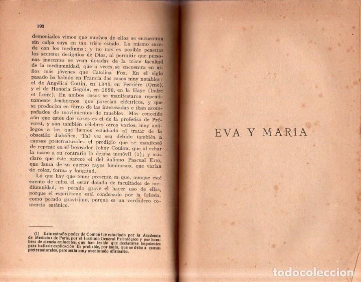 Libros antiguos: EVA Y MARIA. RICARDO SANCHEZ VARELA, PBRO. TIPOGRAFIA CATOLICA CASALS. 1925. - Foto 4 - 161221226