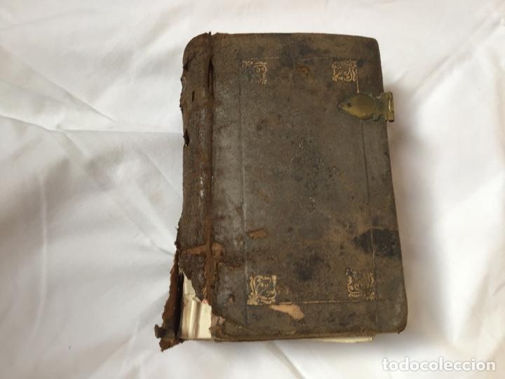 LIBRO ,BREVIARIO. ENCUADERNADO EN PIEL (Libros Antiguos, Raros y Curiosos - Religión)