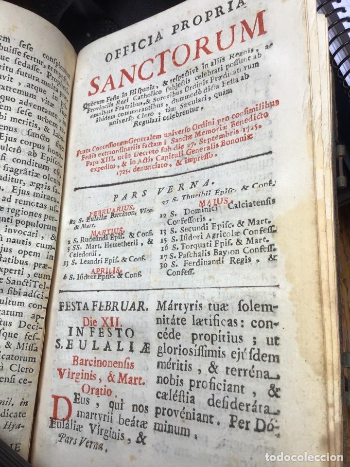 Libros antiguos: Libro ,Breviario. Encuadernado en piel - Foto 11 - 161472818