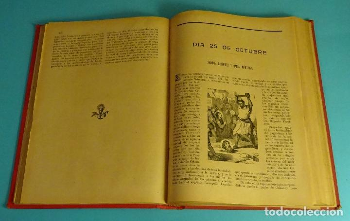 Libros antiguos: AÑO CRISTIANO O SEA VIDAS DE LOS SANTOS. TOMO 4º OCTUBRE, NOVIEMBRE Y DICIEMBRE. 1903 - Foto 2 - 161637646