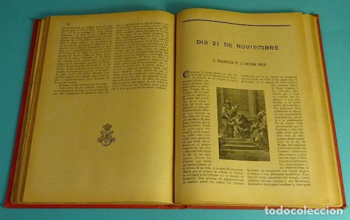 Libros antiguos: AÑO CRISTIANO O SEA VIDAS DE LOS SANTOS. TOMO 4º OCTUBRE, NOVIEMBRE Y DICIEMBRE. 1903 - Foto 3 - 161637646