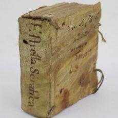 Libros antiguos: ESTRELLA SERAFICA DEL MAS ABRASADOR SOL, JAIME ESTEVA, MAURO MARTI LIBRERO, BARCELONA. 9,5X8CM. Lote 161649290