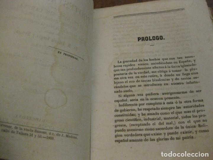 Libros antiguos: Lutero y el protestanismo los sectario sin careta . Antonio Verges. 1869 . - Foto 2 - 162543046