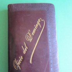 Libros antiguos: MISAL DEVOCIONARIO CON TAPAS DE CUERO - OFICIO DE DOMINGO. Lote 163069702