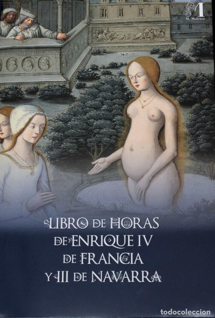 Libros antiguos: Facsímil Libro de Horas de Enrique IV de Francia. Moleiro - Foto 3 - 163766866