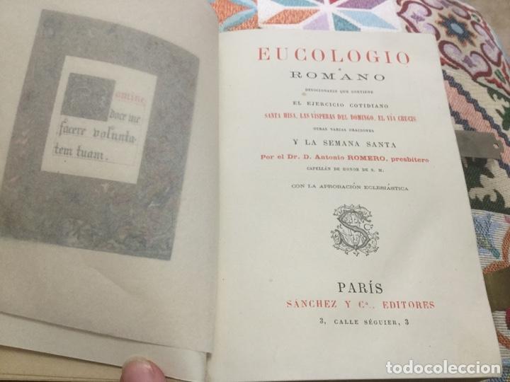 Libros antiguos: Eucologio Romano - Foto 5 - 164706440