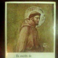Libros antiguos - Els escrits de Sant Francesc d'Assís i de Santa Clara (1978) - 164759554