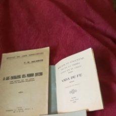 Libros antiguos: 3 ANTIGUOS LIBROS RELIGIOSOS. Lote 164808798