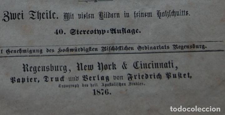 Libros antiguos: BIBLIA ALEMANA CATÓLICA R.P. GOFINE 1876 CON BONITOS GRABADOS 677 páginas - Foto 2 - 164837678