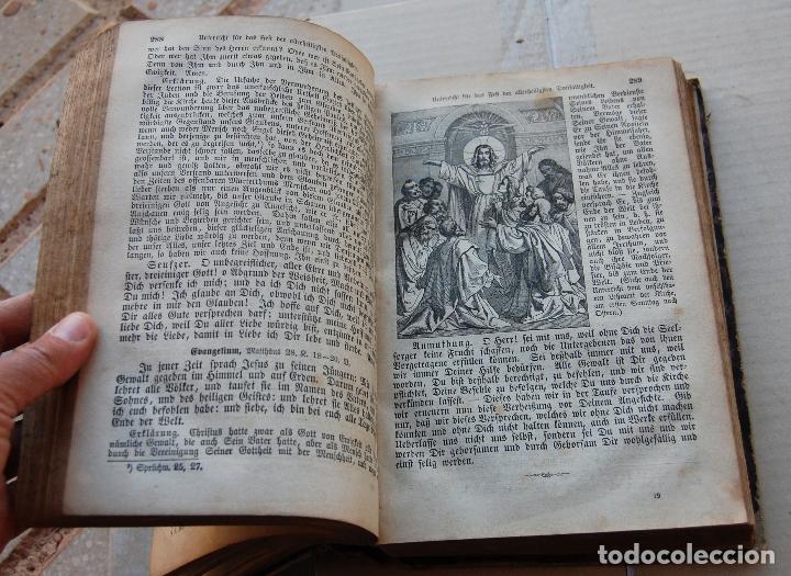 Libros antiguos: BIBLIA ALEMANA CATÓLICA R.P. GOFINE 1876 CON BONITOS GRABADOS 677 páginas - Foto 6 - 164837678