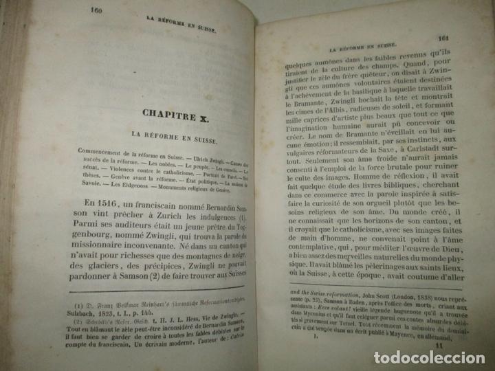 Libros antiguos: HISTOIRE DE LA VIE, DES OUVRAGES ET DES DOCTRINES DE CALVIN. AUDIN, M. 1843. - Foto 4 - 165083966