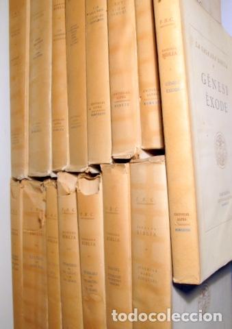 Libros antiguos: LA SAGRADA BIBLIA (15 vols. - Complet) - Barcelona 1928-1936 - Paper de fil - Foto 2 - 165324228