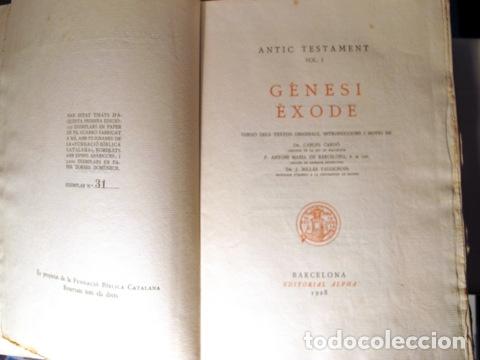 Libros antiguos: LA SAGRADA BIBLIA (15 vols. - Complet) - Barcelona 1928-1936 - Paper de fil - Foto 3 - 165324228