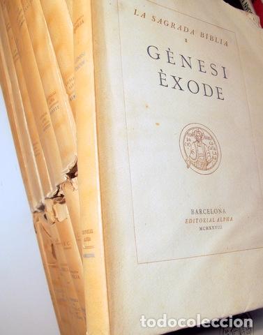 LA SAGRADA BIBLIA (15 VOLS. - COMPLET) - BARCELONA 1928-1936 - PAPER DE FIL (Libros Antiguos, Raros y Curiosos - Religión)