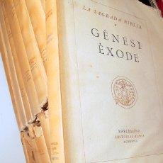 Libros antiguos: LA SAGRADA BIBLIA (15 VOLS. - COMPLET) - BARCELONA 1928-1936 - PAPER DE FIL. Lote 165324228