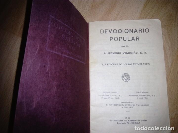 DEVOCIONARIO POPULAR 1930: REMIGIO VILARIÑO (Libros Antiguos, Raros y Curiosos - Religión)