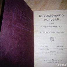 Libros antiguos: DEVOCIONARIO POPULAR 1930: REMIGIO VILARIÑO. Lote 165403802