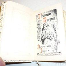 Libros antiguos: MISAL COMUNIÓN *TESORO DIVINO* - POR J. A. LAVALLE - EDIC. VALLÉS 1959, TAPAS PIEL BLANCA. Lote 166146690