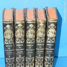 Libros antiguos: OBRAS DE SANTA TERESA DE JESÚS.(5 TOMOS.OBRA COMPLETA). Lote 166666706