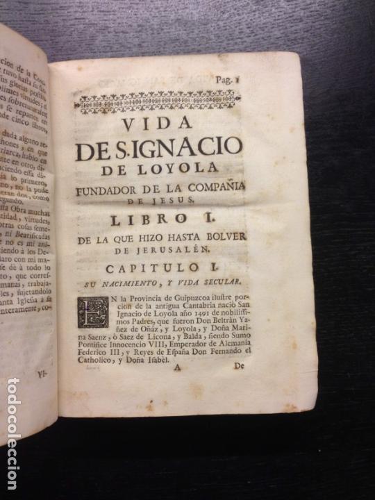 Libros antiguos: VIDA DE S. IGNACIO DE LOYOLA, FLUVIA, P. FRANCISCO XAVIER, 1753 (TOMO 1) - Foto 4 - 166814254