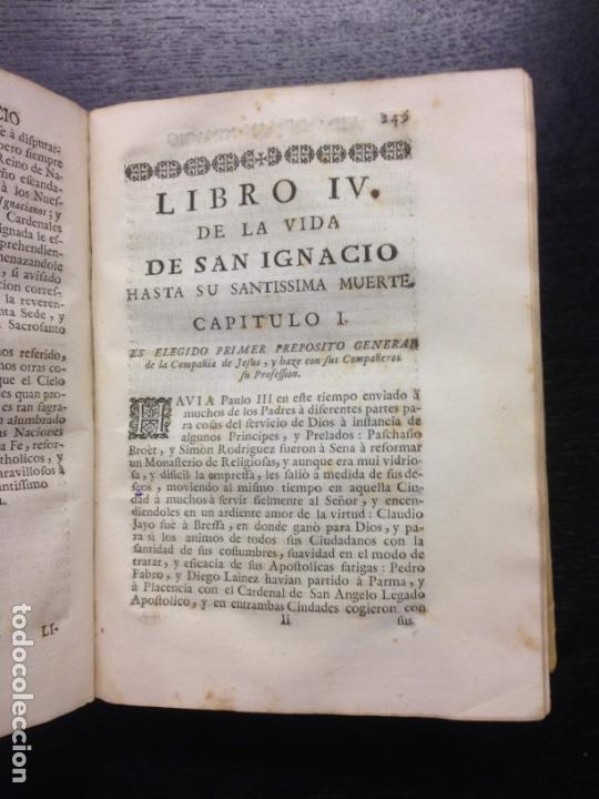 Libros antiguos: VIDA DE S. IGNACIO DE LOYOLA, FLUVIA, P. FRANCISCO XAVIER, 1753 (TOMO 1) - Foto 7 - 166814254