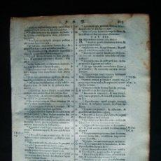 Libros antiguos: 1595C.-HOJA BIBLIA. RELIGIÓN. ORIGINAL SIGLO XVI. Lote 166904756