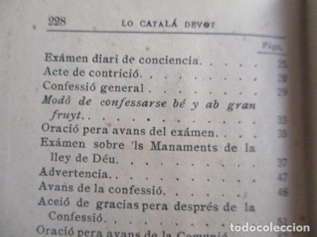 Libros antiguos: LO CATALÀ DEVOT-Mannual devocionari-Dr.Tomas dA.Rigualt-Pvre.Sta.Maria del Mar-Barcelona 1900 - Foto 22 - 166951876