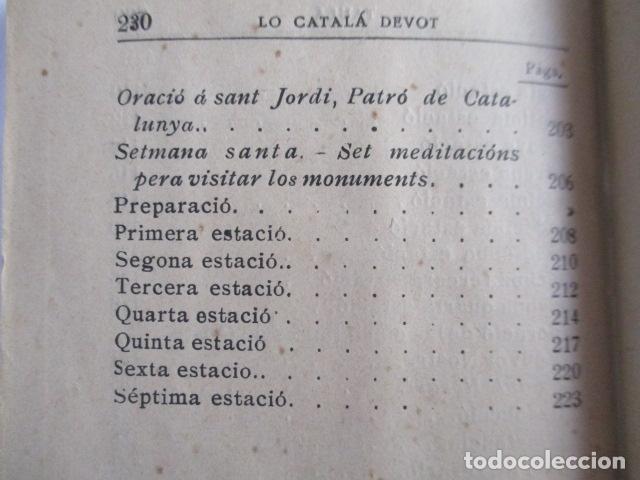 Libros antiguos: LO CATALÀ DEVOT-Mannual devocionari-Dr.Tomas dA.Rigualt-Pvre.Sta.Maria del Mar-Barcelona 1900 - Foto 26 - 166951876