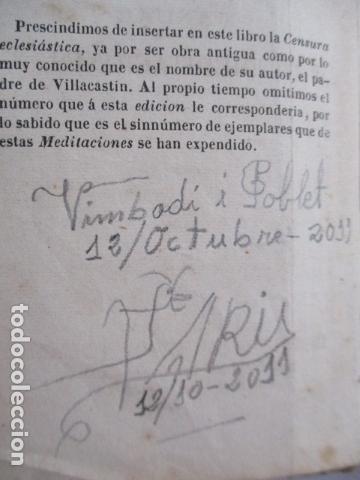 Libros antiguos: MANUAL DE MEDITACIONES. P. TOMAS DE VILLACASTIN. IMP. Y LIBR. PABLO RIERA. BARCELONA 1874 - Foto 13 - 166952292