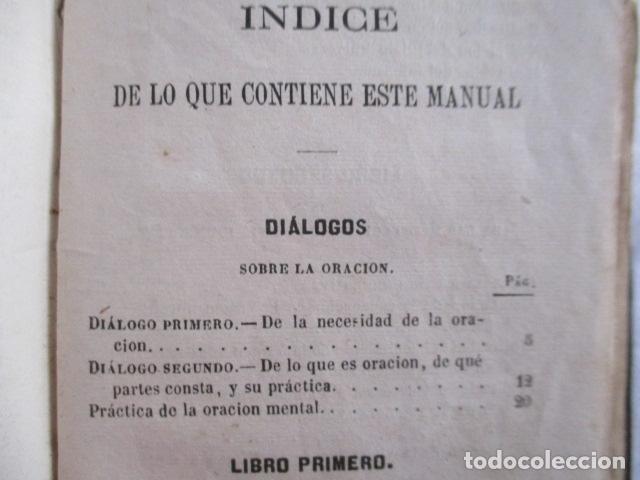Libros antiguos: MANUAL DE MEDITACIONES. P. TOMAS DE VILLACASTIN. IMP. Y LIBR. PABLO RIERA. BARCELONA 1874 - Foto 23 - 166952292