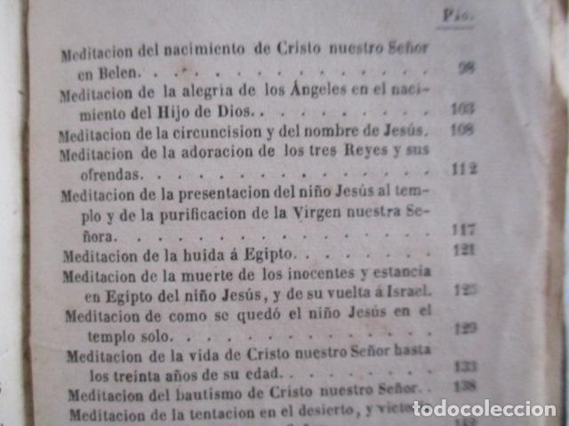 Libros antiguos: MANUAL DE MEDITACIONES. P. TOMAS DE VILLACASTIN. IMP. Y LIBR. PABLO RIERA. BARCELONA 1874 - Foto 27 - 166952292