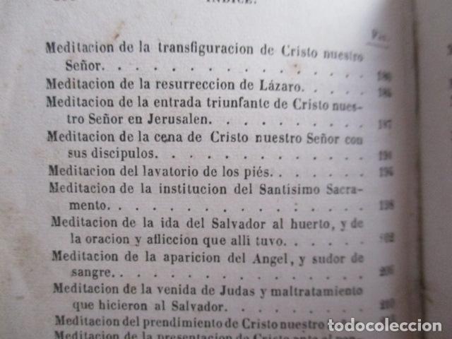 Libros antiguos: MANUAL DE MEDITACIONES. P. TOMAS DE VILLACASTIN. IMP. Y LIBR. PABLO RIERA. BARCELONA 1874 - Foto 29 - 166952292