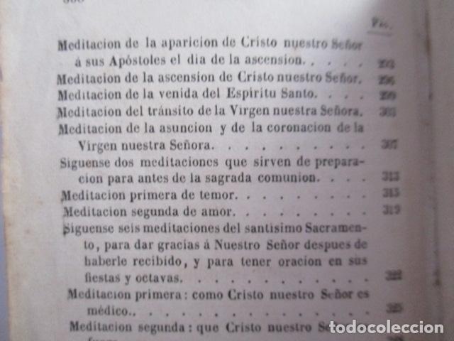 Libros antiguos: MANUAL DE MEDITACIONES. P. TOMAS DE VILLACASTIN. IMP. Y LIBR. PABLO RIERA. BARCELONA 1874 - Foto 33 - 166952292