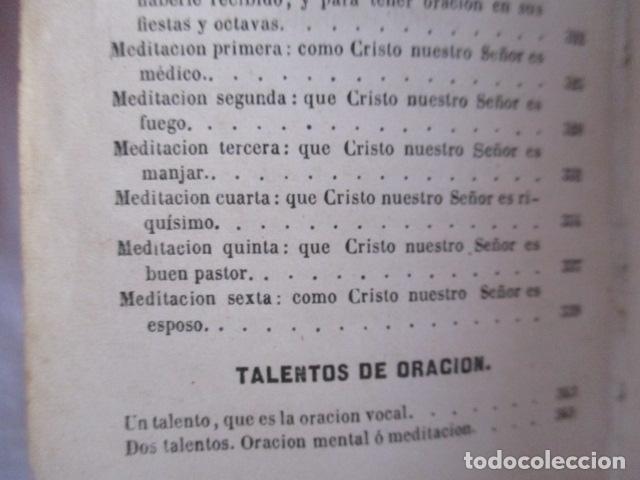 Libros antiguos: MANUAL DE MEDITACIONES. P. TOMAS DE VILLACASTIN. IMP. Y LIBR. PABLO RIERA. BARCELONA 1874 - Foto 34 - 166952292
