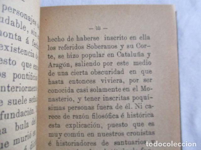 Libros antiguos: EL COFRADE DE MONTSERRAT - MANUALITO DE NOTICIAS HISTÓRICAS (1902) - Foto 9 - 166955868