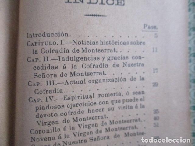 Libros antiguos: EL COFRADE DE MONTSERRAT - MANUALITO DE NOTICIAS HISTÓRICAS (1902) - Foto 12 - 166955868